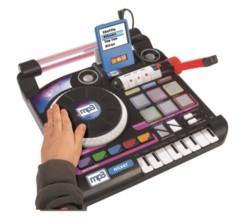 jouet platine dj mix avec effets sonores et prise jack pour smartphone lecteur mp3 mix simba