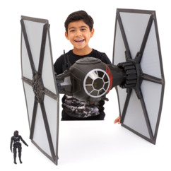 modele reduit vaisseau spacial star wars tie fighter 65cm black edition hasbro avec figurine pilote