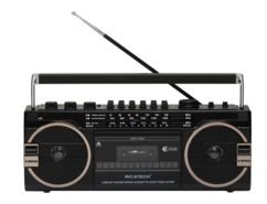 mini ghetto blaster retro avec lecteur cassette k7 carte sd clé usb ricatech pr1980