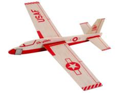 Maquette d'avion planeur en bois revell balsabirds jet glider