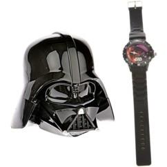 montre en silicone enfant star wars avec boite a montre forme casque dark vador