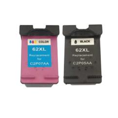 Pack cartouches remanufacturées HP ''C2P05AE 62'' noir + couleur XL