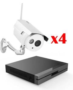 ensemble de caméras de surveillance hd professionnelles avec enregistreur programmable 7links