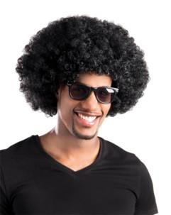 perruque afro noir homme jules winnfield