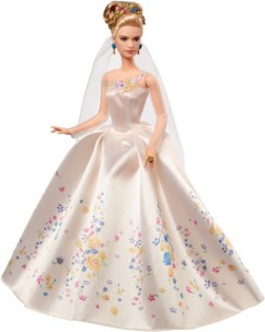 poupée disney mattel de collection cinderella cendrillon robe de mariage film 2015