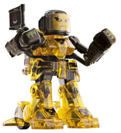 battroborg jaune petit robot de combat téléguidé