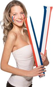 Set de 2 applaudisseurs gonflables drapeau français