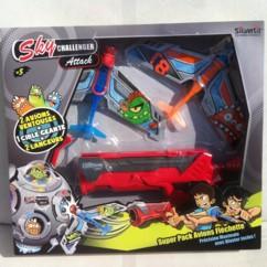 jouet sky challenger avec aions planeurs et pistolet lanceur