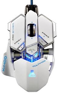 souris gamer boutons reprogrammables avec retroeclairage led 16 millions de couleurs bluestock kult400 blanc