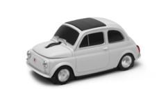 souris à molette sans fil fiat 500 originale blanche autodrive