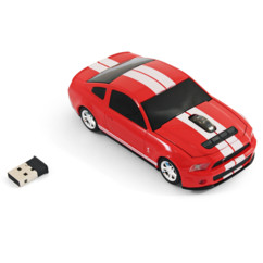 souris sans fil forme ford mustang gt rouge landmice avec dongle USB