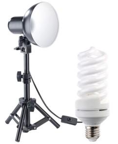Spot photo avec trépied réglable jusqu'à 53 cm + ampoule 24W