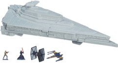 jouet star destroyer star wars micro machines avec figurines finn poe kylo ren et tie fighter xwing