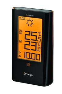 station meteo avec horloge et previsions 12h et ice alert gel verglas Oregon scientic elements ew 93