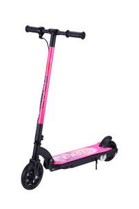 trottinette electrique pour enfant 100w vitesse max 13kmh couleur rose pour fille e-road