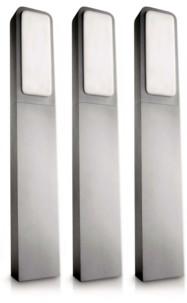 3 bornes de jardin en aluminium Philips