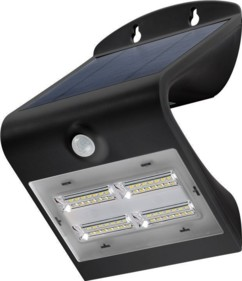 lampe murale solaire design forme vague avec detecteur luminosité Goobay