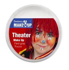 pot de fard gras blanc pour deguisement clown theatre 25 grammes