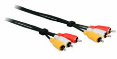 Câble Cinch Audio Vidéo 3 x mâle / 3 x mâle - 3 m