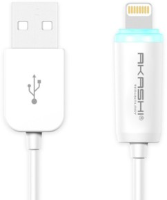 Câble compatible Lightning 1m avec indicateur de charge - Blanc