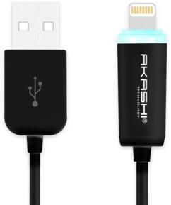 Câble Lightning 1m Akashi - Noir