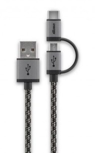 Câble Micro USB tressé Cabstone avec adaptateur USB C - 1 m