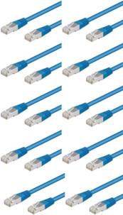 Câble RJ45 bleu cat5e F/UTP - 3m - x10