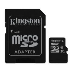 Carte Micro SD avec adaptateur Kingston Canvas Select 16 Go