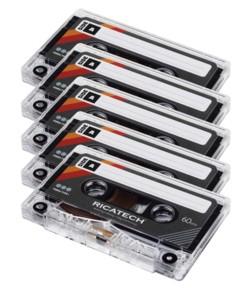 Cassette audio 60 minutes Ricatech CT60 - x5