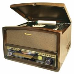 chaine hifi vintage ROADSTAR HIF-1937TUMPK avec platine vinyle 33 45 78 tours lecteur mp3 usb radio fm haut parleurs intégrés