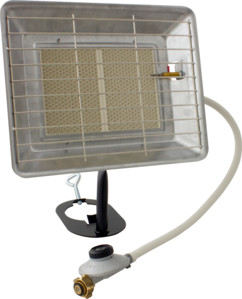 chauffage radiant au gaz 4200W avec support pour bouteille de gaz