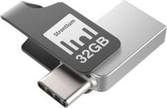 Clé USB Strontium Nitro Plus avec USB 3.1 + USB C OTG - 32 Go