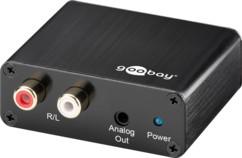 convertisseur signal audio numérique vers analogique goobay