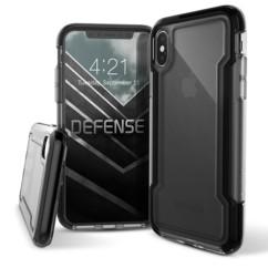 Coque renforcée pour iPhone XS Max : Defense Clear - Noir