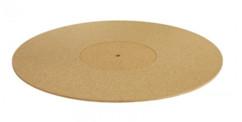 couvre plateau en liège pour platine vinyle diamètre 30 cm dynavox pm3