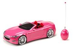 voiture décapotable télécommandée rose bratz avec 2 places pour poupées