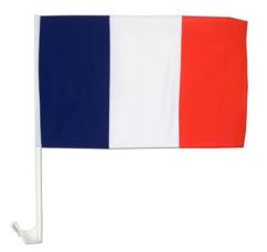 Drapeau France 45 x 30 cm pour vitre de voiture