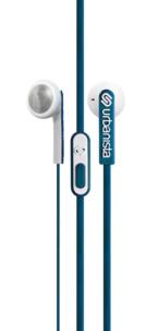 ecouteurs classiques urbanista oslo bleu avec micro et cable plat