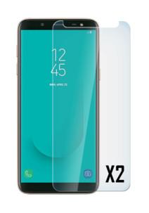 Façade de protection en verre trempé 9H pour Samsung Galaxy J6 2018 (x2)