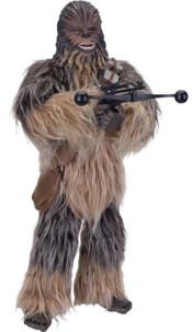 figurine géante chewbacca star wars parlante avec poils et pistolet laser
