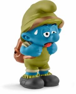 Figurine Les Schtroumpfs dans la jungle : le Schtroumpf épuisé
