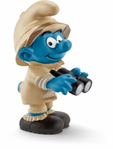 Figurine Les Schtroumpfs dans la jungle : le Schtroumpf observateur