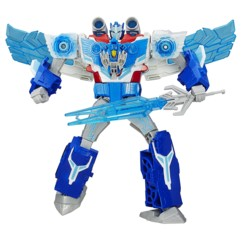 jouet transformers in disguise optimus prime gigawatt et aerobolt minicon