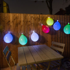 guirlande lumineuse avec ballons de baudruche loom