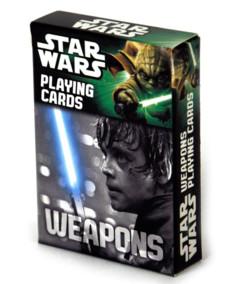 jeu de cartes à jouer star wars motifs armes pistolets laser sabre laser