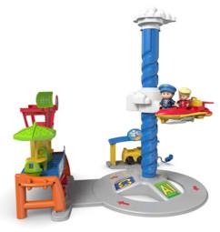 jouet pour petit enfant premier age aeroport sonore little people fisher price avec personnages pilotes et avion