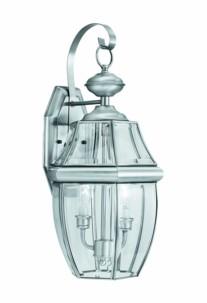 lanterne retro vintage métal nickel avec 2 ampoules pour extérieur philips thomas lightning sl942578