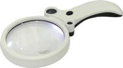 Loupe à main 4 lentilles + LED