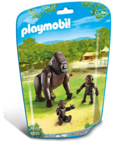 Jouet Playmobil collection Le Zoo - Maman Gorille et ses bébés (n° 6639)