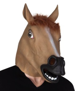 Masque de cheval en latex